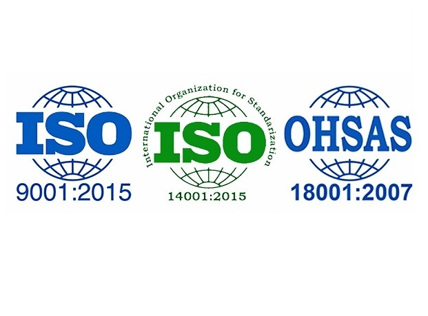 "<span style=""font-weight: bold;"">ISO 9001, 14001,&nbsp;OHSAS 18001</span>"